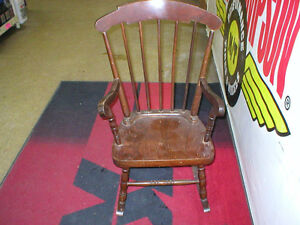 ANTIQUE CHILD'S WOODEN ROCKER London Ontario image 1