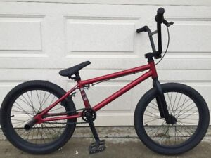 "Nice DK BMX Bike, 20"" alloy wheels, pegs, 20"" top tube,"