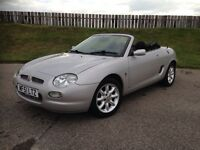 2001 MGF CONVERTIBLE 1.8 16V - 56K MILES - IMMACULATE - SPORTS CAR - LONG MOT - 3 MONTHS WARRANTY
