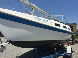 Sailboat Tanzer 22 with Drop Keel, Motor and Custom Trailer