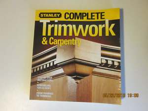 STANLY COMPLETE TRIMWORK AND CARPENTRY. BUILDERS BOOK.