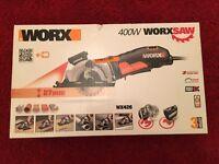 New Worx 400w Worxsaw Circular Saw