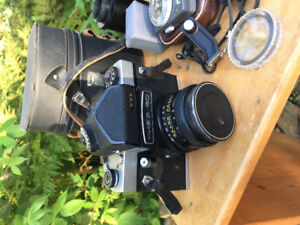 Used Camera, Canon Lenses & Filters, Tripod, Meters, Cases, Misc