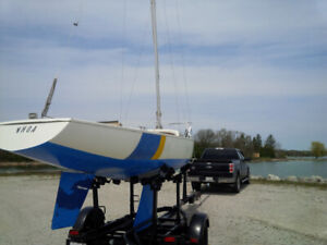 22 Ft Sailboat with Trailer - Must Go!
