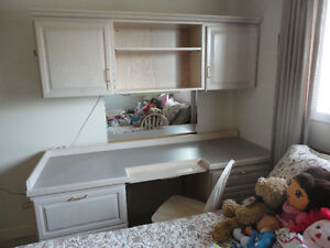 Desk and Cupboard units