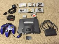 N64 console with games and extras
