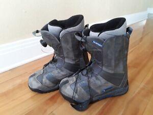 Casque et bottes de planche à neige