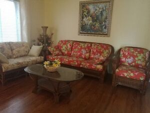 3.sofas and 2 cofee tables