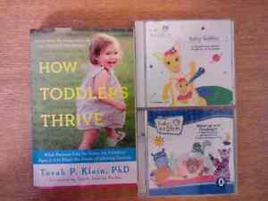2 Baby Einstein CD's and how toddlers thrive book
