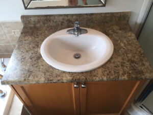 Almost new counter tops and sinks, various sizes , Must go