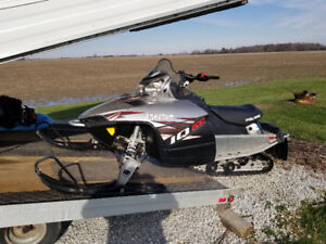 2010 Polaris IQ800 and enclosed trailer for sale