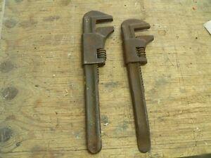 2 vieille clé a molette antique # 1763