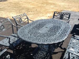 Set patio cast aluminium