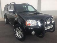 2004 54 Nissan Navara 2.5Di ( Leather ) Outlaw D/CAB WITH REAR CANOPY NO V A T