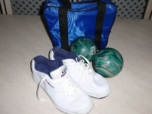 Bowling Dexter Shoes and bowling balls for men and women