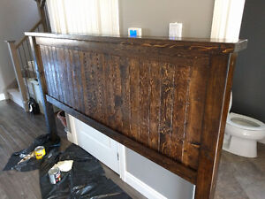 Solid wood farmhouse headboard