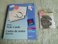 Card stamping stamp and paper,