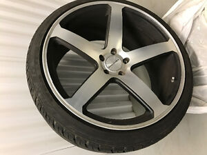 Selling 22 inch Concavo Rims and tires