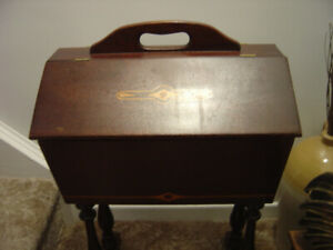 Antique Mahogany Sewing Stand