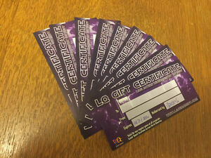 Laser Quest Gift Certificates for Sale