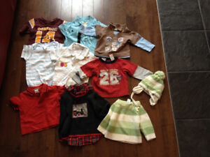 Lot of Clothes for boy 6Months, contains 16 pieces.