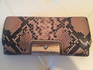 COACH Python Skin Leather Envelope Wallet REDUCED