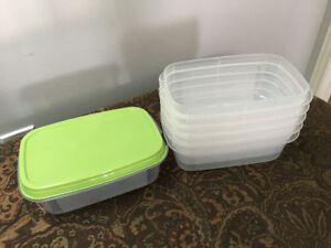 Various Glass & Plastic Storage Containers