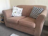 Beige 2 seat sofa