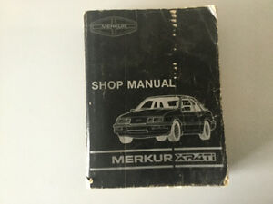 1985-1989 Merkur XR4Ti Shop Manual