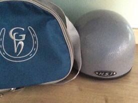 HS1 silver riding hat