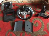 Mad Catz Xbox 360 Wireless Steering Wheel and Pedals