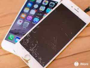 Iphone 5 5c 5s 6 plus cracked screen repair service