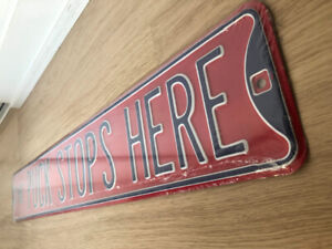 The Puck Stops Here - Collectible Sign (Brand New)