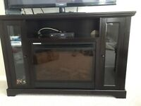 Tv stand with fire place for 160$