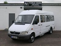 MERCEDES SPRINTER 411 CDI MINIBUS COACH DISABLED CREW WELFARE TRANSPORT
