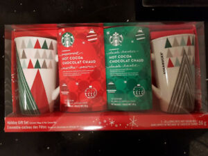 4PC Starbucks Ceramic Mug & Coca Mix Gift Set