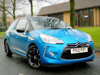 2012 12 Citroen DS3 1.6 e-HDi Airdream DStyle Plus WITH F/S/H &TOP SPECIFICATION