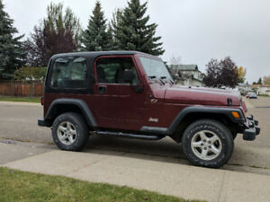 2002 Jeep TJ SE Convertible- hard and soft top