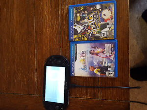 PS Vita OLED screen in mint condition and 2 games