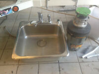 Evier Stainless steel sink with garburator