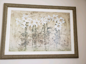 Two large art pieces each $20