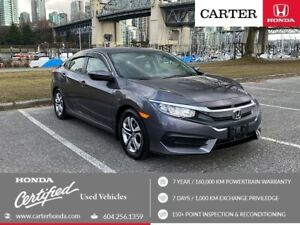 2017 Honda Civic LX + CERTIFIED + LOCAL + NO ACCIDENT!