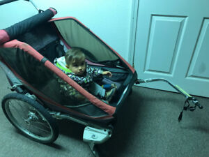"2-kid ""Chariot"" Stroller for sale"