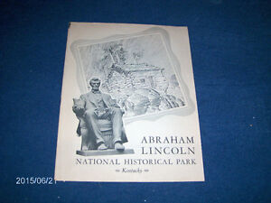 ABRAHAM LINCOLN NATIONAL HISTORIC PARC BOOKLET-1950/60S