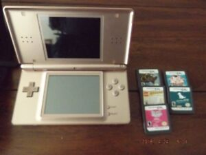Nintendo DS Lite with case and games for quick sale