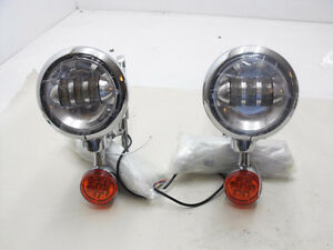 New Chrome Aftermarket Aux Lights / Turn signal 94-13 Roadking