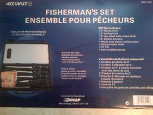Fisherman Knife Set.  Must see.  New.  Retail $80. Only $40.