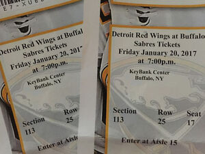 Red Wings vs Sabres January 20th