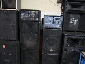 mixer amplifier+speakers+filles+micro