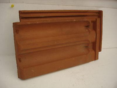 Ton Dachpfanne Meyer Holsen rot,ca.24 x 40,5cm für Deko zum bemalen,dekorieren